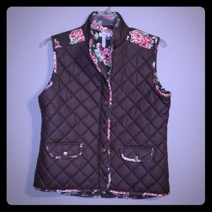 Corduroy lined quilted vest Matilda Jane like new